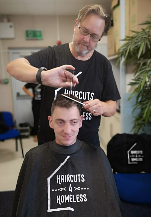Free haircuts given by charity Haircuts4Homeless at Peterborough launch